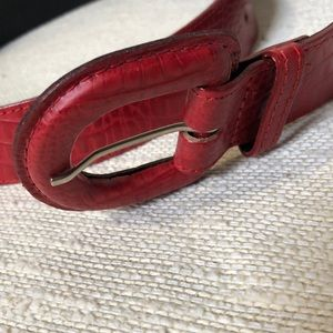 Worthington Accessories - Red belt / small